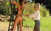 House Of Taboo Danielle Maye & Krystal Webb Krystal Webb Is Hung Out For A Hard Spanking By Danielle!