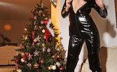 House Of Taboo Aneta J. Aneta J.'S Christmas In Latex With A Huge Black Dildo!
