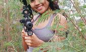 Joon Mali Commando Teen Asian Commando Joon Shows Lovely Cameltoe In Jungle