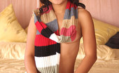 Joon Mali Scarf Panties Adorable Teen Joon Mali Shows Her Asian Cameltoe And Titties
