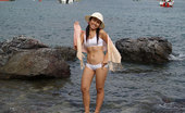 Joon Mali Bay View NN Joon Mali Blows Kisses Wearing Just A Panty Set At Ocean