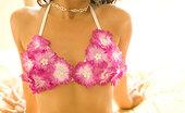 Joon Mali Fragrant Flowers NN Brown Asian Bombshell Joon Mali In Tiny Flowered Sex Bikini