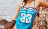 Joon Mali ShinyBuns NN Joon Mali Oils Up Her White Panties And Round Bubble Buns