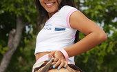 Joon Mali SlingShot NN Asian Teen Flashes Cute Panties And Bubble Buns Outdoors