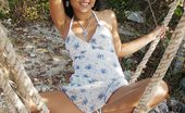 Joon Mali Sundress SwingNN Joon Mali Flashes Her Panties And Butt Crack In A Sundress