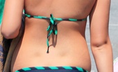Upskirt Collection Cute bikini butts move under panties
