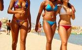 Upskirt Collection Sexy bikini teens flash the nudity
