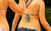 Upskirt Collection Bikini dolls go nude and in ecstasy