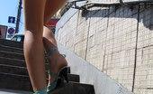 Upskirt Collection Girls staying back to upskirt camera