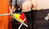 Upskirt Collection Pantieless upskirts of playful gals
