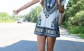 Upskirt Collection Girl in short skirt caught in street