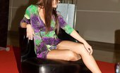Upskirt Collection Long legs with panty shown up skirt