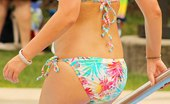 Upskirt Collection Swimsuit teens have fun on weekend