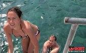 Upskirt Collection Girls in bikinis on downblousing pics