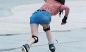 Upskirt Collection Mini skirt up skirt on ice rink