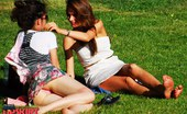 Upskirt Collection Upskirting and sunbathing in park