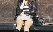 Upskirt Collection Sultry sitting upskirt photos