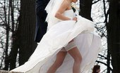 Upskirt Collection Beautiful and sexy upskirt bride