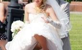 Upskirt Collection Very steamy bride upskirt pics