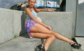 Upskirt Collection Crazy upskirt pics with lewd doll spreading her legs