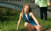 Upskirt Collection Extra hard shots with gal in tight dress wearing no panties