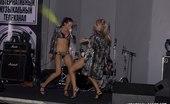 Upskirt Collection Very slim bimbos proudly boast their bodies in bikinis