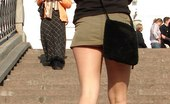 Upskirt Collection Extra hot shots with short skirts hardly hiding nude butts