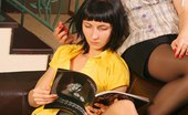 Upskirt Collection 347180 Candid amateur upskirt from two playing brunettes