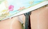 Upskirt Collection Blonde fairy upskirt view