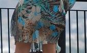 Upskirt Collection Wind upskirt - Wind lifts her dress's skirt up