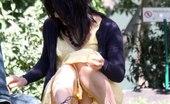 Upskirt Collection Upskirt. Voyeur up yellow skirt in public