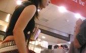 Upskirt Collection Cute teenie emo upskirted. Voyeur upskirt in public