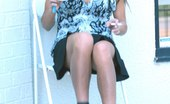 Upskirt Collection Hottie in mini sitting and, up skirt flashing