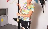 Santa Latina Cecilia Musical Dirty Posing Incredible Colombian Teen Posing In The Studio