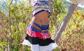 Asha Kumara Free Spirit NN Indian Teen Pulls Up Skirt To Expose Pretty White Panties