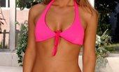 Swank Mag Lexi Hot Blonde Using Pink Vibrator Outdoors