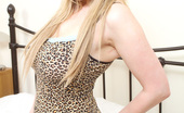 Megan Sweets Slutty, Busty Teen Megan Sweets Strips Out Of Her Curve Hugging Leopard Print Outfit.