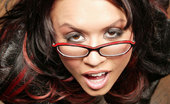 POV Fantasy Eva Angelina Bigtit Girl Wearing Glasses Licks Dick Before Having Hardcore Sex