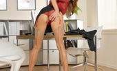 Hungarian Honeys Monica Sweetheart Sexy Stockings In The Office