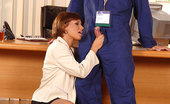 Only Blowjob Sylvia Laurent Hot Lady Sucking The Maintenance Boy`S Cock In Her Office
