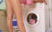 Only Blowjob Silvy V Hot Busty Blonde Silvy V Doing Laundry & Sucking Cock!