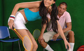 Only Blowjob Julya Bright Tennis Babe Julya Slurps Her Instructors Cock On The Court