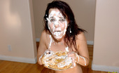 Anabolic.com Dana DeArmond Double Pie Dana DeArmond Gets A Big Pie In Her Face