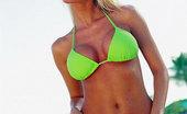 Bikini Dream Sandra Corbo Neon Bikini Babe Poses By Ocean