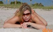 Bikini Dream Amber Sexy Blonde Amber In Her Tiny Orange Bikini