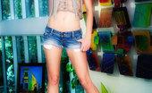 Glamour Models Gone Bad Franziska Petite Blonde Shows Off Her Hot Naked Body
