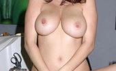 Glamour Models Gone Bad Jelena Jensen Busty Brunette Posing Nude At The Office