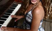 Glamour Models Gone Bad Jamie Elle Petite Brunette Strips During Her Piano Lesson