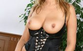 Glamour Models Gone Bad Lenka Gaborova Lenka Gaborova Strips Off Her Black Corset