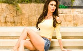 Glamour Models Gone Bad Jessica Jaymes Jessica Jaymes In Her Jean Skirt Showing Us A Little Upskirt Pussy Shots